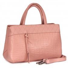 Сумка женская натуральная кожа RM-R 7866,    1отд+карм/пер,    плечевой ремень,    розовый