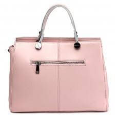 Сумка женская натуральная кожа RM-H-3458,    1отд+карм/пер,    плечевой ремень,    розовый
