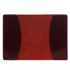 Обложка для паспорта PVS-03 натуральная кожа бордо анилин   (5853)