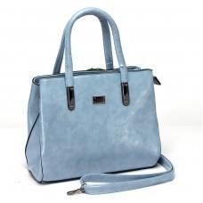 Сумка женская искусственная кожа ZEL-8240,    1отд+карм/пер,    плечевой ремень,    голубой