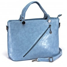 Сумка женская искусственная кожа ZEL-0421 1отд+карм/пер,    плечевой ремень,    голубой